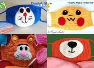 crochet face mask free pattern for kids 2