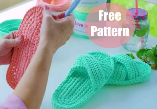 crochet slippers for women video tutorial for beginners