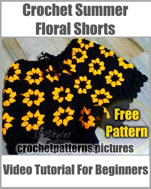 crochet summer shorts, crochet free pattern, crochet short free pattern