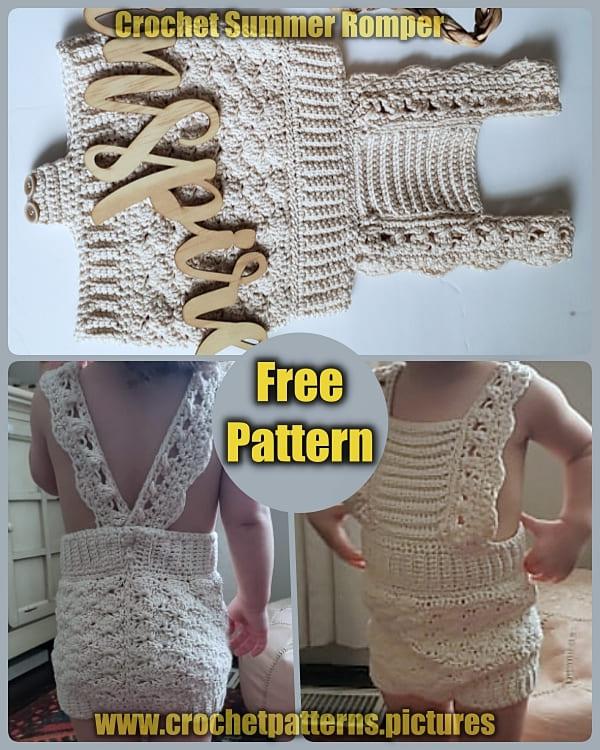 summer crochet romper free pattern