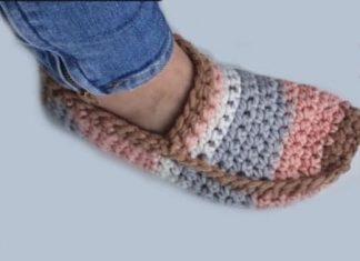 2022 crochet slippers free pattern