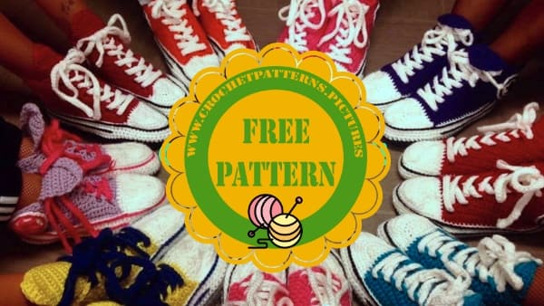 easy crochet adult converse free pattern video tutorial