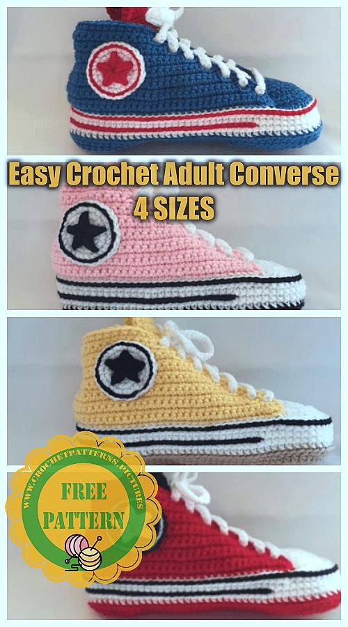 crochet converse free patterns