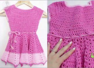 2021 summer crochet dress for kids