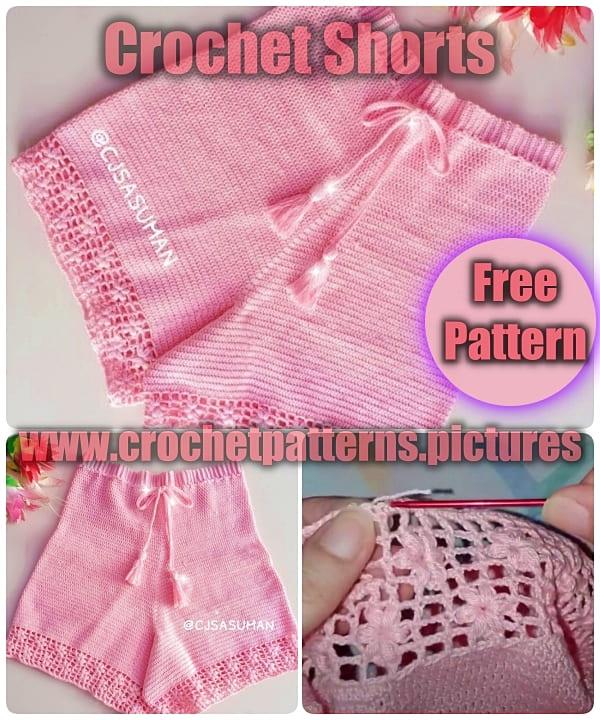 crochet free pattern, crochet short free pattern