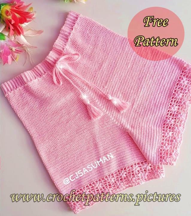 crochet free pattern, crochet shorts, crochet short free pattern