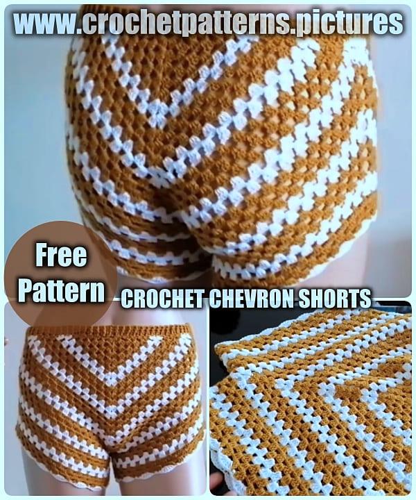 crochet shorts free pattern, crochet summer free patterns, crochet for beginners