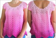 crochet Lace Blouse free pattern for summer 2021