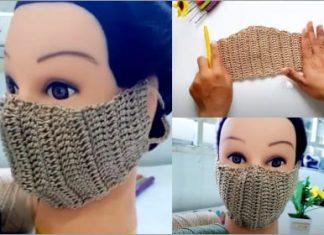 easy crochet face mask free pattern