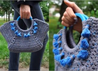 crochet hand bag free pattern
