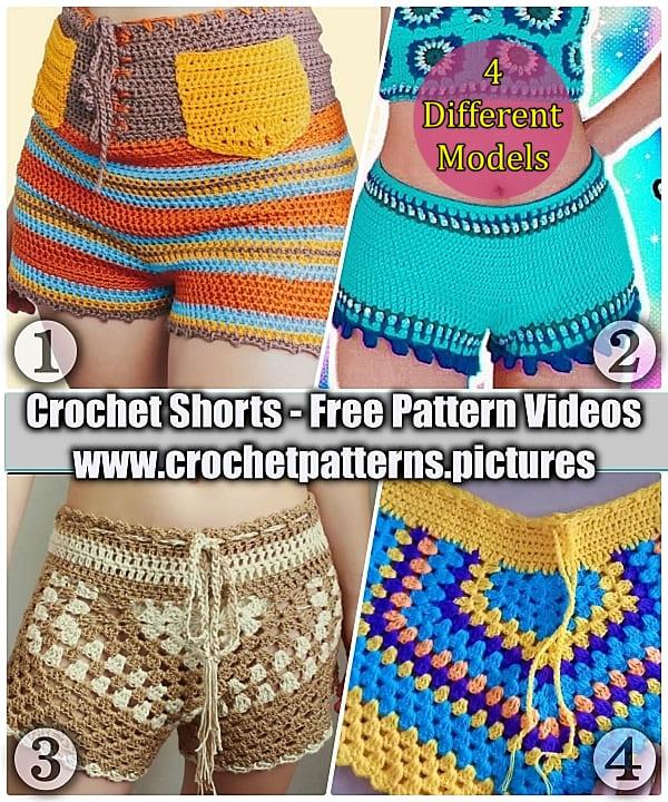 2021 crochet short free pattern