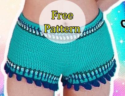crochet summer shorts, crochet shorts, crochet free pattern, crochet short free pattern