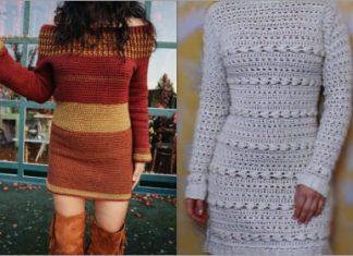 Crochet Sweater Dress free patterns