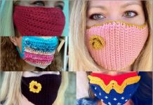 6 popular crochet face masks free patterns