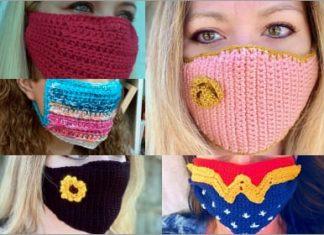 6 popular crochet face masks free patterns