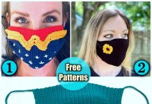 crochet face mask, crochet face mask free pattern, diy face mask, handmade face mask, crochet free patterns