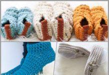 crochet slippers free patterns