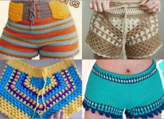 4 crochet shorts free patters