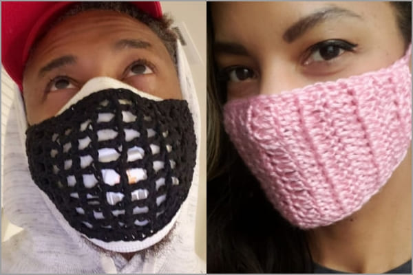 crochet face mask covers free pattern for man