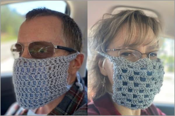 simple crochet face mask cover free pattern