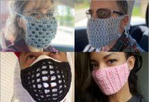 crochet face mask for men and women